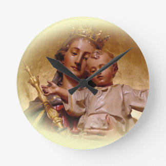 Blessed Virgin Mary and infant Jesus Clock
