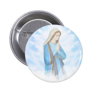 Blessed Virgin Mary Badge Button