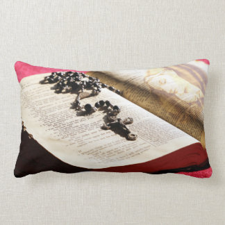 Blessed Virgin Mary Bible Rosary Lumbar Pillow