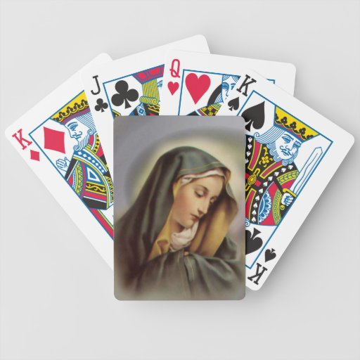 Blessed Virgin Mary Bicycle Playing Cards