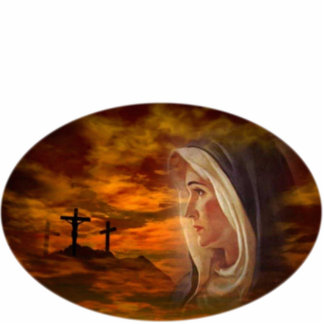 Blessed Virgin Mary Calvary Photo Sculpture