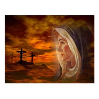 Blessed Virgin Mary Calvary Postcard