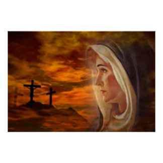 Blessed Virgin Mary Calvary Print