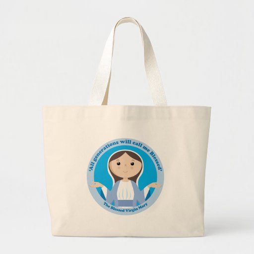 Blessed Virgin Mary Canvas Bags