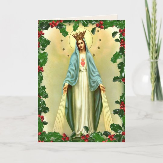 Blessed virgin mary catholic christmas religious holiday card blessed virgin mary catholic christmas religious holiday card m4hsunfo