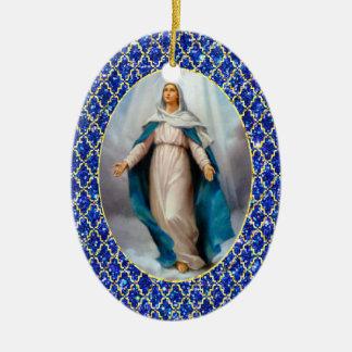 Blessed Virgin Mary Ceramic Ornament