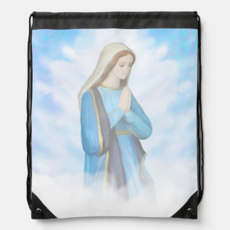 Blessed Virgin Mary Drawstring Backpack