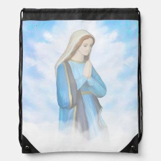 Blessed Virgin Mary Drawstring Backpack