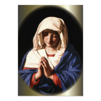 Blessed Virgin Mary in Prayer Card