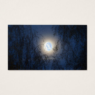 Blessed Virgin Mary in the Moon Lite Forest Business Card