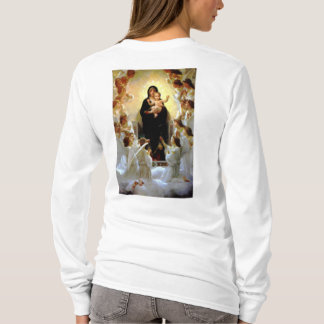 Blessed Virgin Mary Infant Child Jesus and Angels T-Shirt