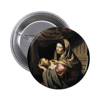 Blessed Virgin Mary Infant Child Jesus - Bijlert Button