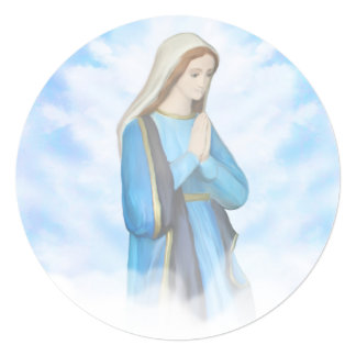 Blessed Virgin Mary Invitation 13 Cm X 13 Cm Square Invitation Card