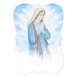 Blessed Virgin Mary Invitation 13 Cm X 18 Cm Invitation Card