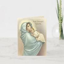 Blessed Virgin Mary Jesus Catholic Sympathy Card