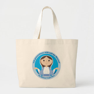 Blessed Virgin Mary Large Tote Bag