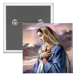 Blessed Virgin Mary - Mother of God Pinback Buttons
