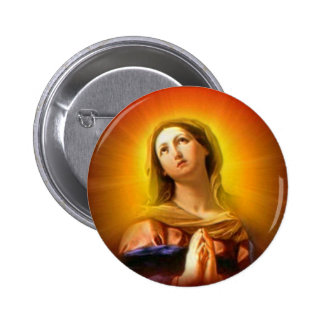 Blessed Virgin Mary - Mother of God Button