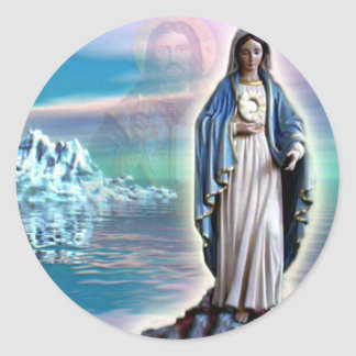 Blessed Virgin Mary - Mother of God Classic Round Sticker