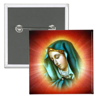 Blessed Virgin Mary - Mother of God Pinback Button