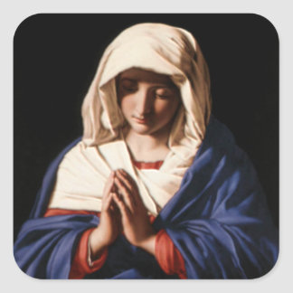 Blessed Virgin Mary - Mother of God Square Sticker
