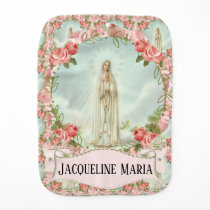 Blessed Virgin Mary Our Lady of Fatima Catholic Baby Burp Cloth