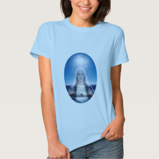 Blessed Virgin Mary Over the Ocean Tee Shirt