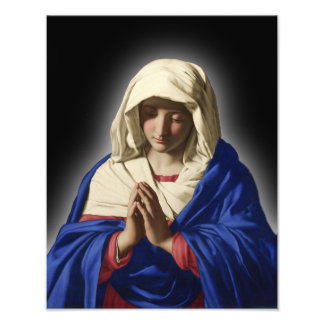 BLESSED VIRGIN MARY SACRED IMAGE PHOTO PRINT