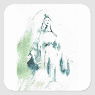Blessed Virgin Mary Square Sticker