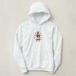 Blessed Virgin Mary Symbolism Embroidered Hoodie