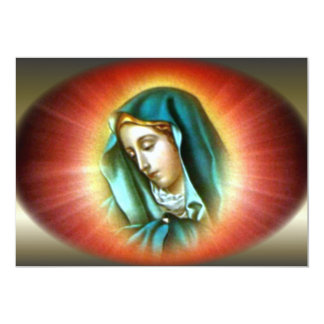 Blessed Virgin Mary with Vivid Halo Card