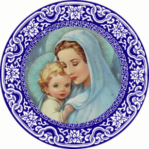 blessed virgin mary stickers zazzle