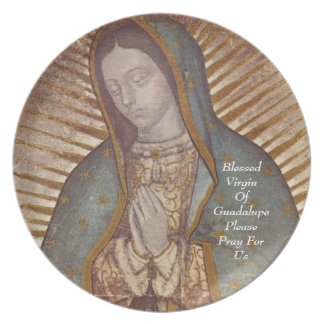blessed virgin of guadalupe please pray for us plate