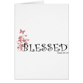 Blessed with butterflies card