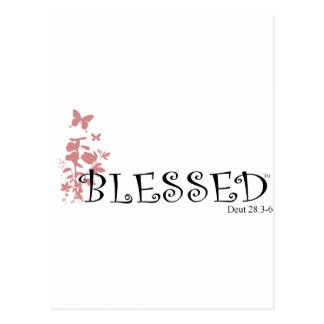 Blessed with butterflies postcard