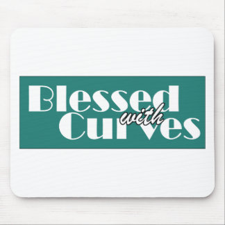 Blessed With Curves Mouse Pad