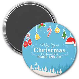 Blessed with Peace & Joy Christmas | Magnet