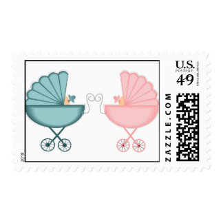 Blessed with Twins Postage Stamp