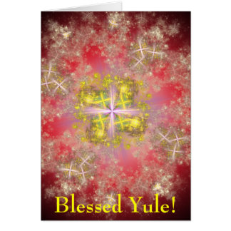 Blessed Yule Customizable Card