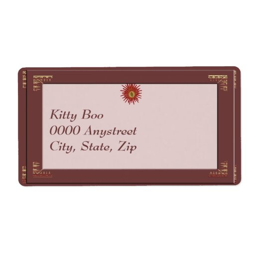Blessed Yule Large Shipping Label