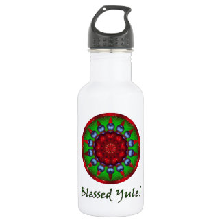 Blessed Yule Mandala Stainless Steel Water Bottle