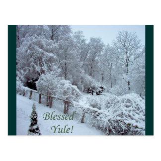 Blessed Yule Postcard