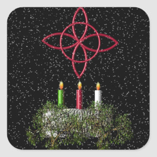 Blessed Yule Square Sticker