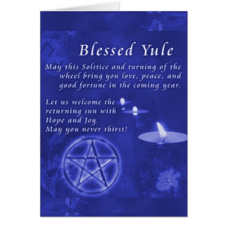 Blessed Yule Stationery Note Card