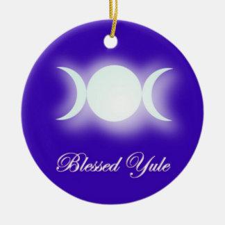 Blessed Yule (Triple Moon Goddess) Christmas Tree Ornaments