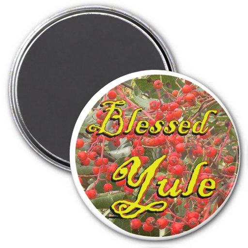 Blessed Yule (Winter Berries) Fridge Magnets