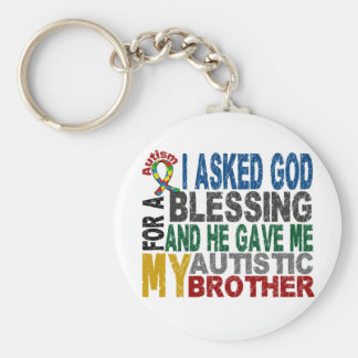 Blessing 5 BROTHER Autism T-Shirts & Apparel Basic Round Button Keychain