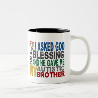 Blessing 5 BROTHER Autism T-Shirts & Apparel Two-Tone Coffee Mug