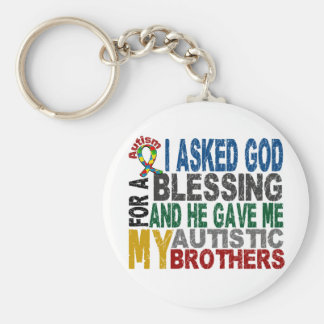 Blessing 5 BROTHERS Autism T-Shirts & Apparel Basic Round Button Keychain