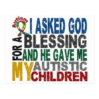 Blessing 5 CHILDREN Autism T-Shirts & Apparel Postcard